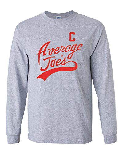 Long Sleeve Adult T-Shirt Average Joe's Movie Costume Dodge Ball Halloween DT (Large, Sports -