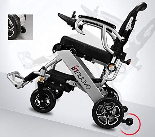 J.GH Premium Electric Power Wheelchair, Portable Power Wheelchair, Air Travel Allowed,Mobility Motorized, Foldable Compact Power Wheels (Anti E&j Tipper)