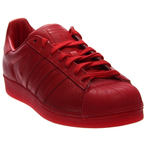 adidas Originals Men's Superstar Adicolor Fashion Sneaker, Scarlet/Scarlet/Scarlet, 10 M US (Mens Red Sneakers)