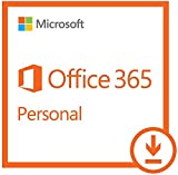 Software : Microsoft Office 365 Personal |1 Year Subscription | with Auto-renewal, 1 user, PC/Mac Download