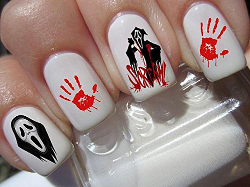 Amazon Halloween Nail Art Set X 20 Horror Movie Scream Decals