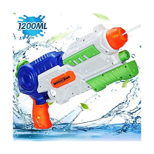 Ucradle Pistole ad Acqua Giocattolo, Squirt Gun per Bambini e Adulti, capacità 1200ML, Gamma di 8-10 Metri Summer… 1 spesavip