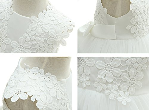 Greatop Baby Girls Dress Christening Baptism Party Formal Dress(White(Style 2),18M/15-18Month) by Greatop (Image #4)