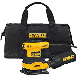 DEWALT D26441K 2.4-AMP Orbital 1/4-Sheet Sander with Cloth Dust Bag