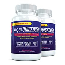 Acai Quick Burn (2 Bottles) The #1 Rated Acai Berry Fat Burner w/ Garcinia Cambogia, All Natural Weight Loss Diet Pill