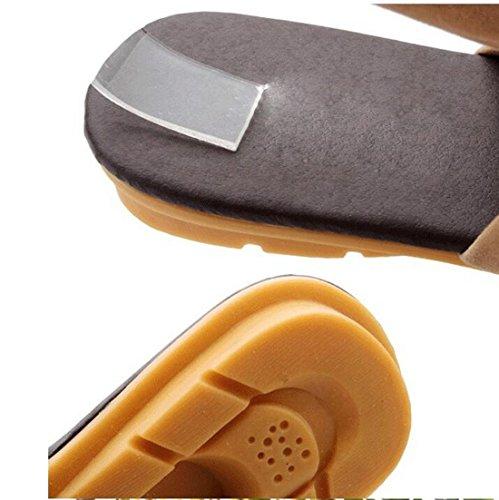 KHSKX-Schuhe Pantoffeln Verband Fischgräten - Frauen Flach - Flip - Flops - Sandalen Forty