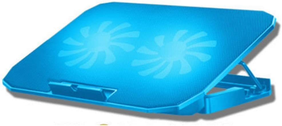 Laptop Cooler pad Laptop Cooling Explosion-Proof Stable Notebook Good Helper Strong Wind Low Noise Multi-Angle Adjustment Notebook Cooler pad (Color : Blue)