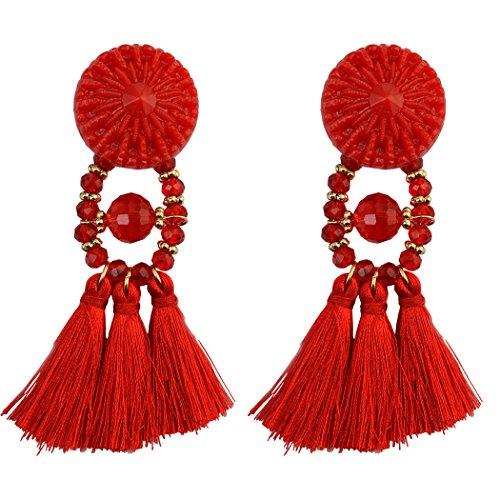 Bohemian Vintage Feather Beaded Earring