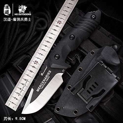 HX outdoors Mercenary D2 Steel high Hardness Tactical Straight Knife Wild Survival Saber Outdoor Knife (D-169)