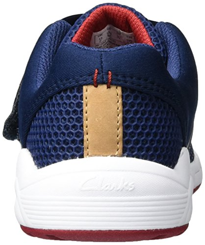 Clarks Jungen Frisby Ace Jnr Low-Top Blau (Navy)