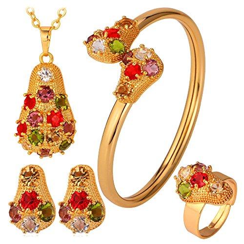 Fashion Rhinestone Earrings Bracelet Necklace