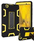 lg 3 tablet cases - LG G Pad 3 8.0 Case,LG G Pad X 8.0 Case,SKYLMW Three Layer Hybrid Heavy Duty Shockproof Anti-Slip Protective Case for LG G Pad 3/G Pad X 8.0 Inch Tablet(V520/V521/V522/V525)with Kickstand,Black Yellow