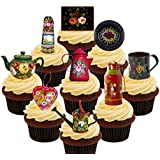 Canal Ware / Roses and Castles Party Pack, Edible Cupcake Toppers - Stand-up Edible Cake Decorations by Made4You