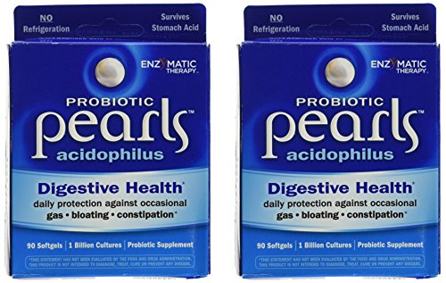 Acidophilus Pearls - Enzymatic Therapy Acidophilus Pearls 2-pack (180 Capsules)