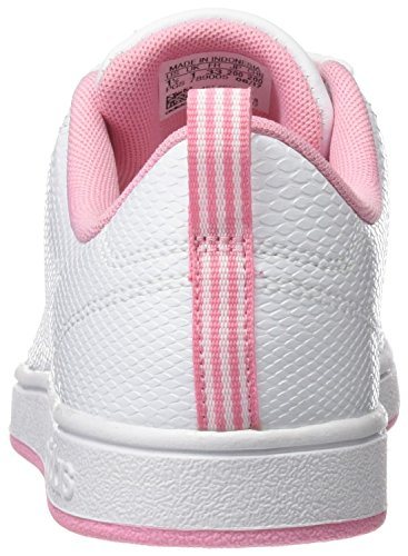 adidas Vs Advantage CL K, Zapatillas de Deporte Unisex Niños Blanco (Ftwr White/light Pink)