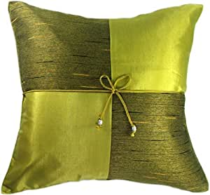 Decorative Pillows For Bed Green : Amazon.com: Artiwa Lime Green Square Checker 16
