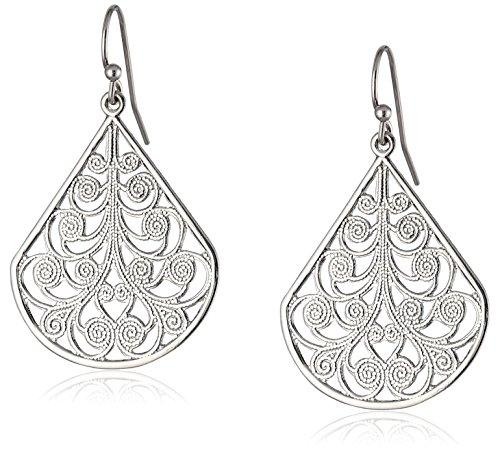 1928 Jewelry Gold-Tone Vine Filigree Earrings