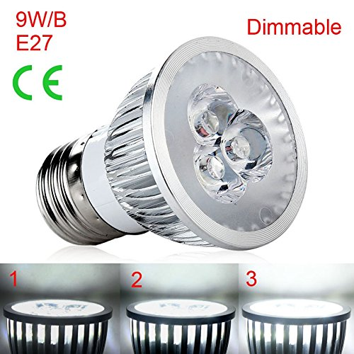 Enjoydeal E27 1PC 9W New LED Spot Light Lamps Cool White Dimmable 110V B Type