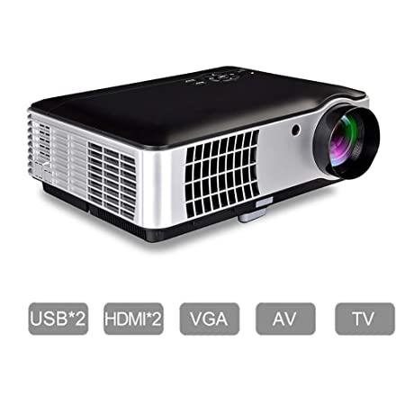 QLPP HD 1080P proyector de vídeo con Pantalla portátil 200