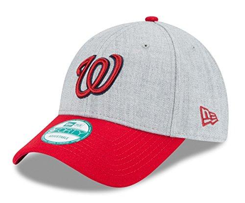 (New Era MLB Washington Nationals The League Heather 9Forty Adjustable Cap, One Size, Heather)
