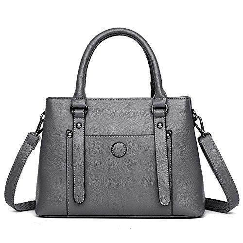 DHFUD Bolso De Hombro De La Mujer Messenger Bag Fashion De Gran Capacidad Gray