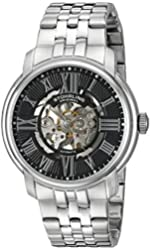 Stuhrling Original Men's 812.02 Atrium Automatic Skeleton Stainless Steel Watch