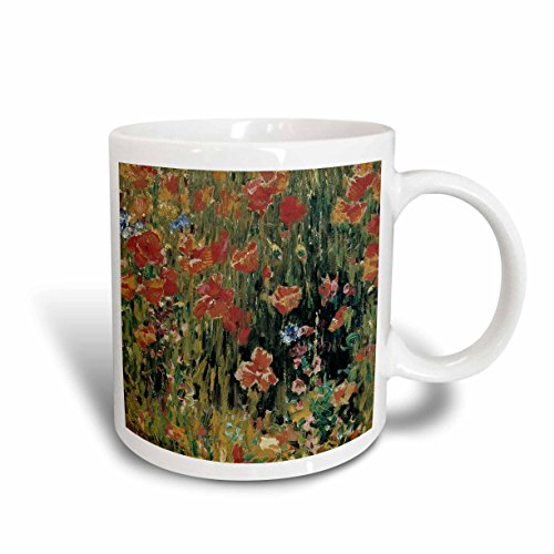 3dRose mug_126528_2 Poppies by Robert Vonnoh Impressionist Flower Garden Ceramic Mug, - Rose Garden Mug