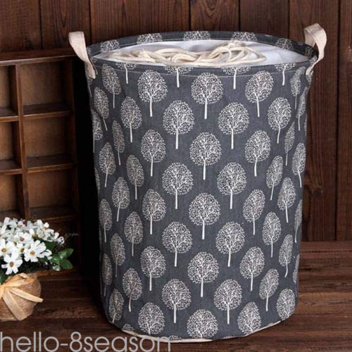 FidgetGear Foldable Cotton Linen Washing Clothes Laundry Basket Bag Hamper Storage Toy Gift Blue from FidgetGear
