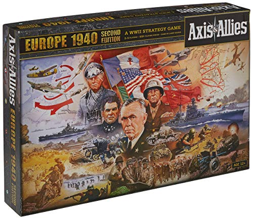 Wizards of the Coast Axis and Allies Europe 1940 2nd Edition Board Game (Renewed)