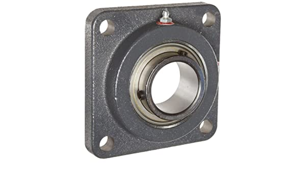 Inch 4 Bolt 5-1//8 Bolt Hole Spacing Width Setscrew Lock 6-3//8 Overall Width Cast Iron Regreasable Contact and Flinger Seal Browning VF4S-132 Intermediate-Duty Flange Unit 2 Bore