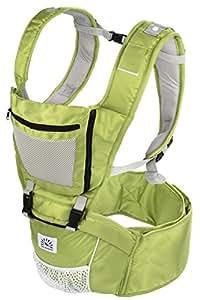 Babi Bambino Best New Baby Ergonomic Carrier Sling Soft Hip Seat Headphone Port and Hood (Green)
