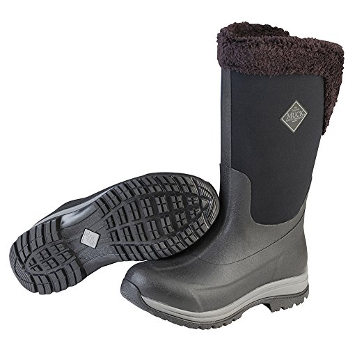 Muck Boot Women's Apres Tall (15'') Work Boot, Black/Castlerock, 9 M US by Muck Boot
