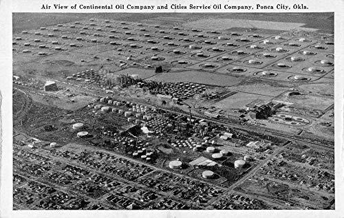Ponca City Oklahoma Continental Oil Co Aerial View Antique Postcard J78909