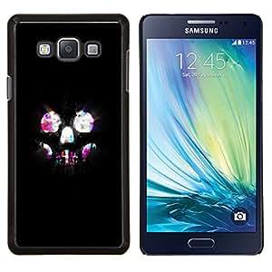 """Be-Star Único Patrón Plástico Duro Fundas Cover Cubre Hard Case Cover Para Samsung Galaxy A7 / SM-A700 ( Cráneo Luces Esqueleto Bling neón Noche"""" )"""