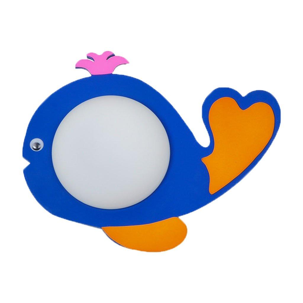 Unbekannt QIQIDEDIAN Kinderzimmer Kleine Fische Wandleuchte Creative Cartoon Eye LED Blau Wandleuchte