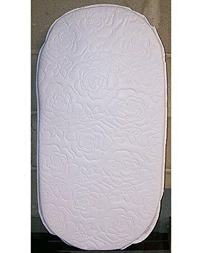 Oval Foam Bassinet Mattress - 16 x 32 x 2 Inches, Thick