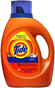 3-Pack Tide HE Turbo Clean Liquid Laundry Detergent 100 Fl Oz (64 Loads)