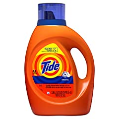 Tide Original liquid laundry detergent provides the Tide clean you love now in a 'Designed for Delivery' bottle to make your online shopping easier. This Tide liquid laundry detergent has 10x the cleaning power and an improved formula, reengi...