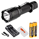 Bundle- 6 items: Fenix TK16 1000 Lumen Tactical LED Flashlight /w Instant Strobe, 2 x Fenix 3400mAH 18650 Rechargeable Batteries, 2 Channel Smart Charger, and LumenTac Battery Organizer