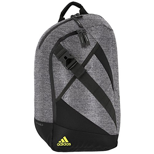 adidas Citywide Sling Backpack, Heather Granite/Black/Solar Yellow, One Size