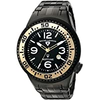 Swiss Legend Men's 'Neptune Force' Swiss Quartz Stainless Steel Casual Watch, Color:Black (Model: 21819P-BB-11-GA)