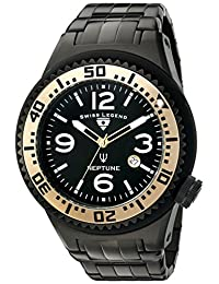 Swiss Legend Men's 'Neptune Force' Quartz Stainless Steel Casual Watch, Black (Model: 21819P-BB-11-GA)