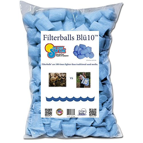 In The Swim Filterballs Blu Advanced Replacement Sand Pool Filter Media - 1 Pound
