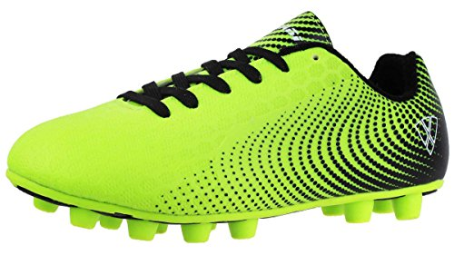 Soccer Kids Boots (Vizari Unisex-Kids Stealth FG Size Soccer Shoe, Green/Black, 11 M US Little Kid)