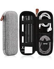 AGPTEK Case Holder for Apple Pencil, Slim Carrying Case Pouch Cover Compatible with Apple Pen Accessories,USB Cable, Earphone,Samsung Stylus iPad Pro Pen/Pencil, Recording Pen, Gray