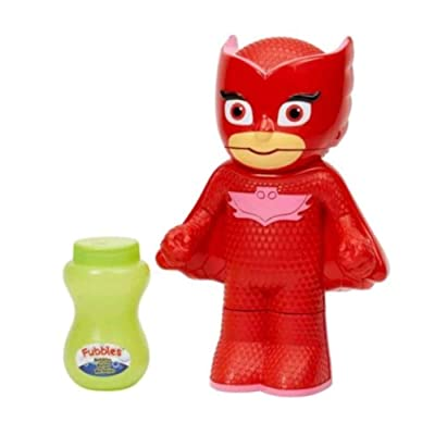 PJ Masks Owlette Action Bubble Blower Fubbles Bubbles Blowx Continuous Bubbles: Toys & Games