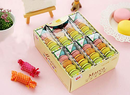 XYTMY Back to School Supplies, Macaroons Erasers,Cartoon Erasers,Pencil Eraser Set, School Stationery 80pcs
