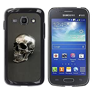 Ihec Tech Plata Cráneo gris Bling Dead metal / Funda Case back Cover guard / for Samsung Galaxy Ace 3
