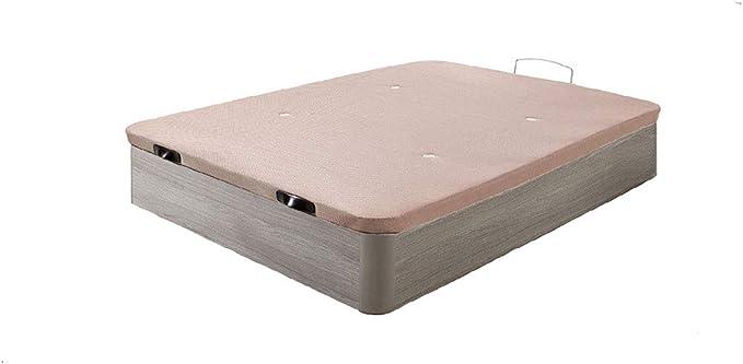HOGAR24- Canapé abatible Madera Gran Capacidad con Tapa 3D y válvulas de transpiración, Color Roble Cambrian (135X190)