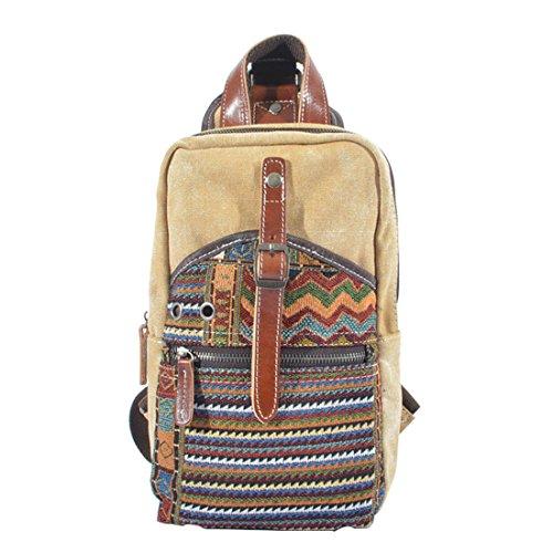Hanshu Double Belt Vintage Girl's PU Leather Backpack Shoulder Bag Satchel - Mossimo Belt Black